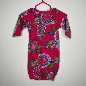 Angel Dear floral baby convertible gown sack 0-3
